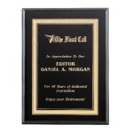 Ebony Piano Finish Plaque Employee Awards