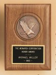 American Walnut Eagle Casting Plaque Employee Awards