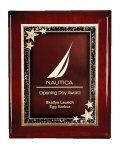 Rosewood Piano Finish Star Plaque Sales Awards