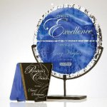 Jeweled Art Glass Plate Sales Awards