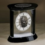Silver Accents Carriage Clock Secretary Gift Awards